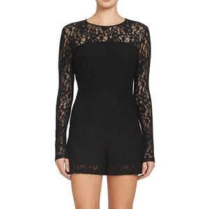 1. State Black Long Sleeve Lace Romper